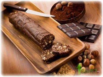 Как приготовить шоколадную колбаску